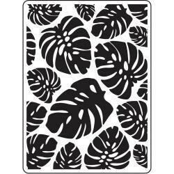 """Embossing Folder 4.25""""X5.75"""" by Darice Tropical Leaf Background"""