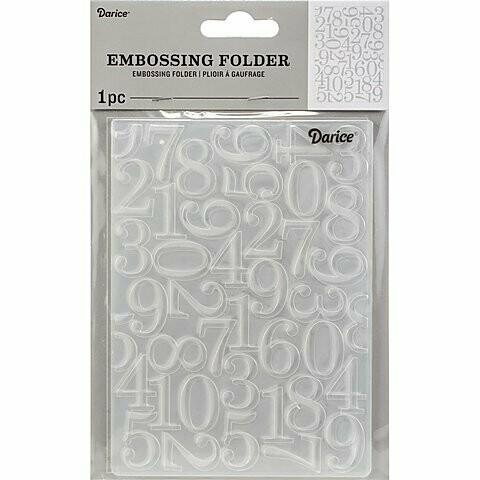 """Embossing Folder 4.25""""X5.75"""" by Darice Numbers"""