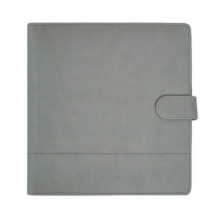 """Kaisercraft Planner 9""""X9"""" Gray W/Stitched Accents"""