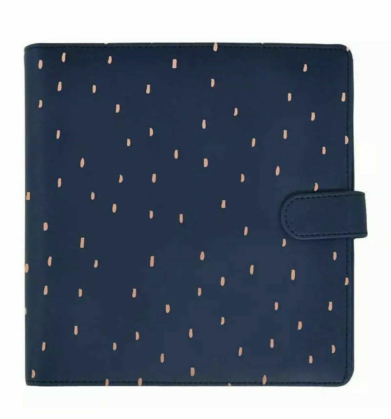 "Kaisercraft Planner 9""X9"" Navy W/Rose Gold Foil Accent"