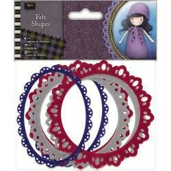 Santoro's Gorjuss Tweed Felt Shapes 6/Pkg