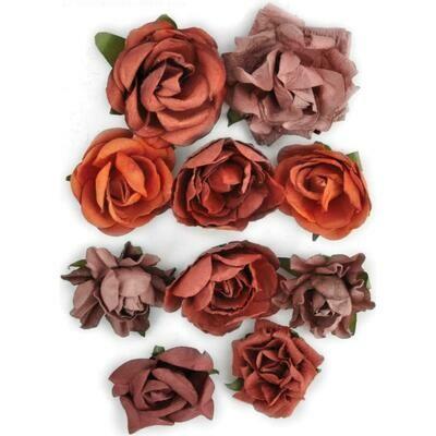 Kaisercraft Paper Blooms 10/Pkg Ruby, 1