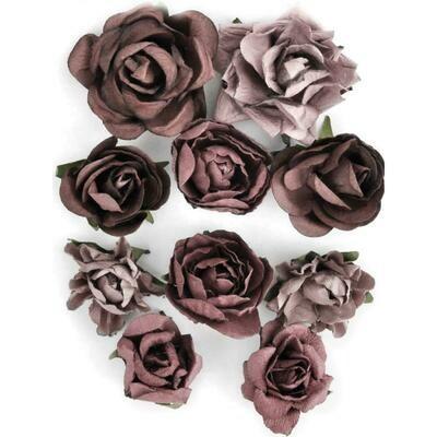 Kaisercraft Paper Blooms 10/Pkg Aubergine, 1