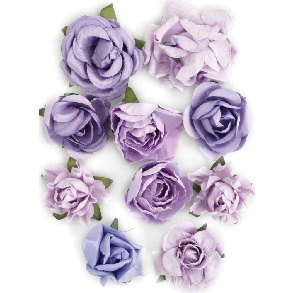 """Kaisercraft Paper Blooms 10/Pkg Amethyst, 1"""" - 1.5"""""""