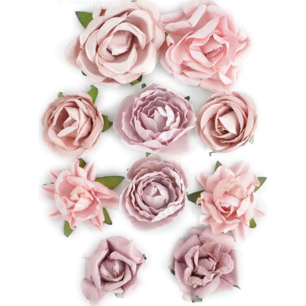"""Kaisercraft Paper Blooms 10/Pkg Dusty Pink, 1"""" - 1.5"""""""