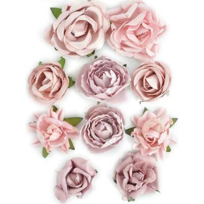 Kaisercraft Paper Blooms 10/Pkg Dusty Pink, 1