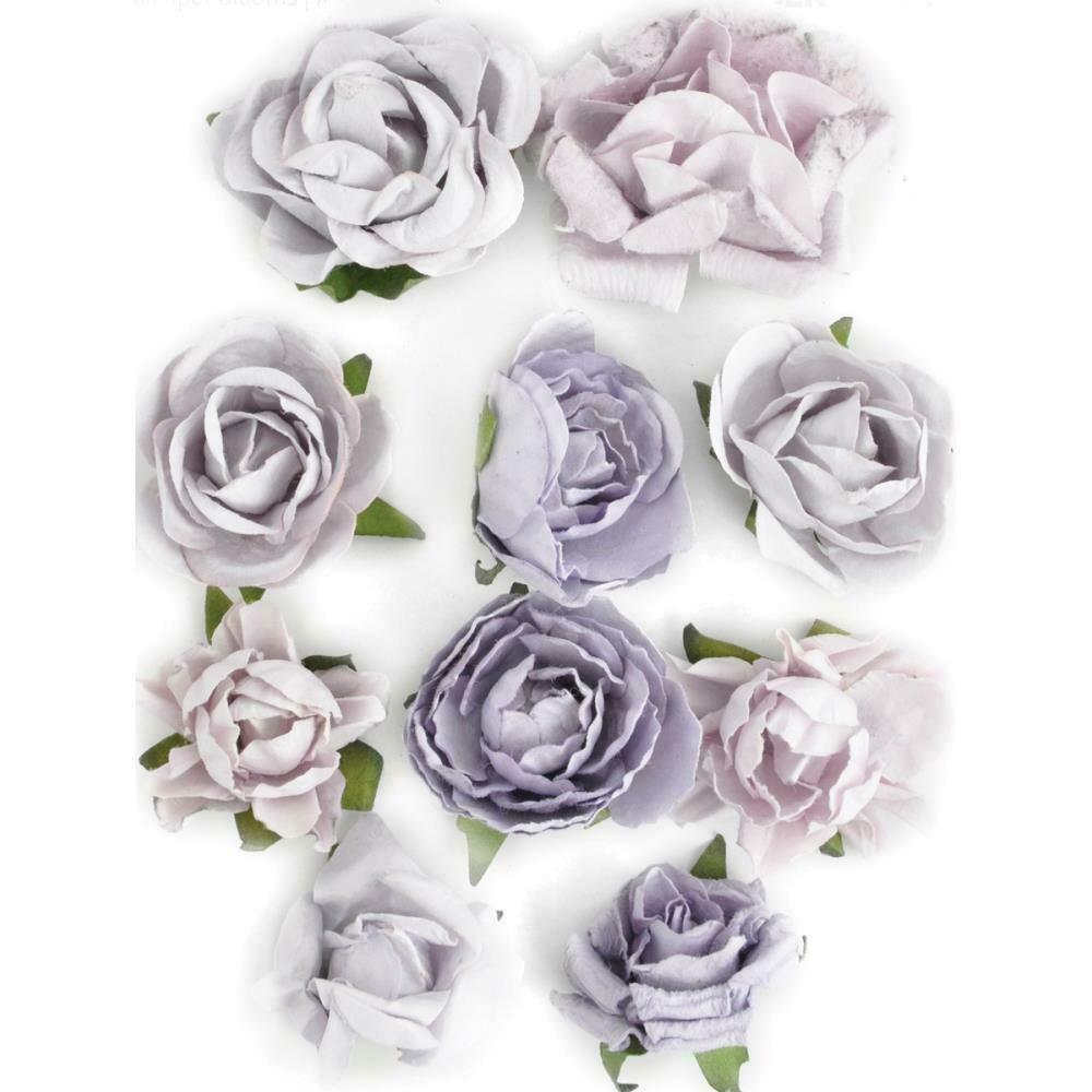 """Kaisercraft Paper Blooms 10/Pkg Misty, 1"""" - 1.5"""""""