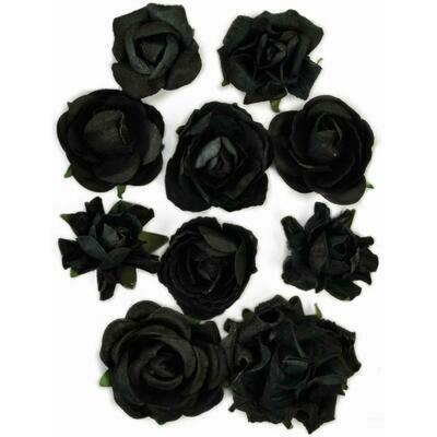 Kaisercraft Paper Blooms 10/Pkg Black, 1