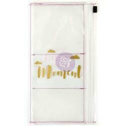 """Prima Marketing Traveler's Journal Clear Pouch 10""""X6"""" Enjoy Every Moment"""