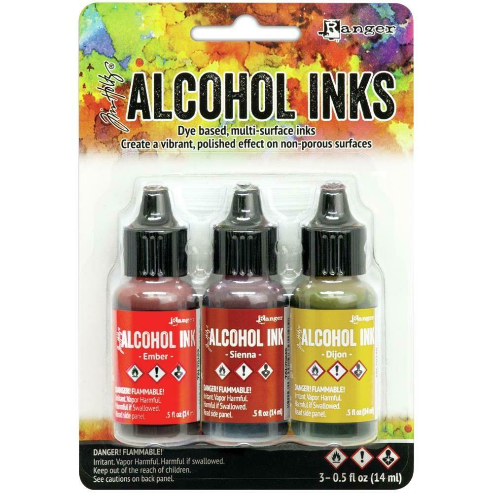 Tim Holtz Alcohol Ink 3/Pkg - EMBER, SIENNA, DIJON
