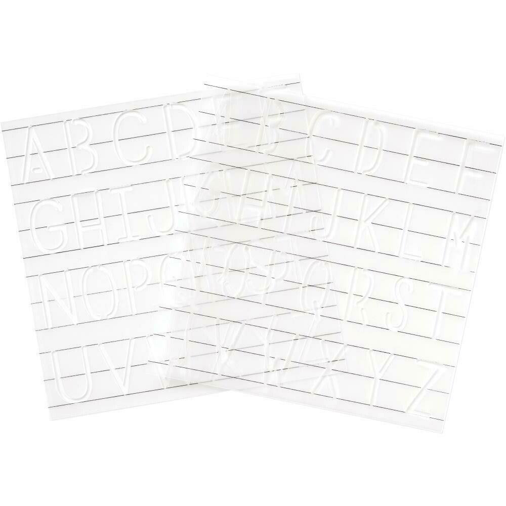 """We R Memory Keepers Foil Quill Freestyle Stencils 7""""X7"""" 2/Pk Monogram"""
