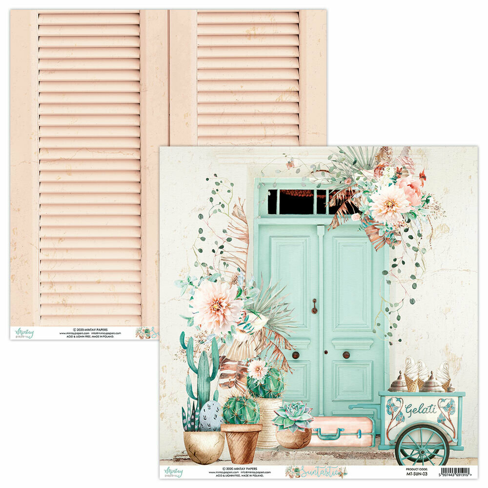 Mintay papers SUNTASTIC Sheet #3 12 X 12