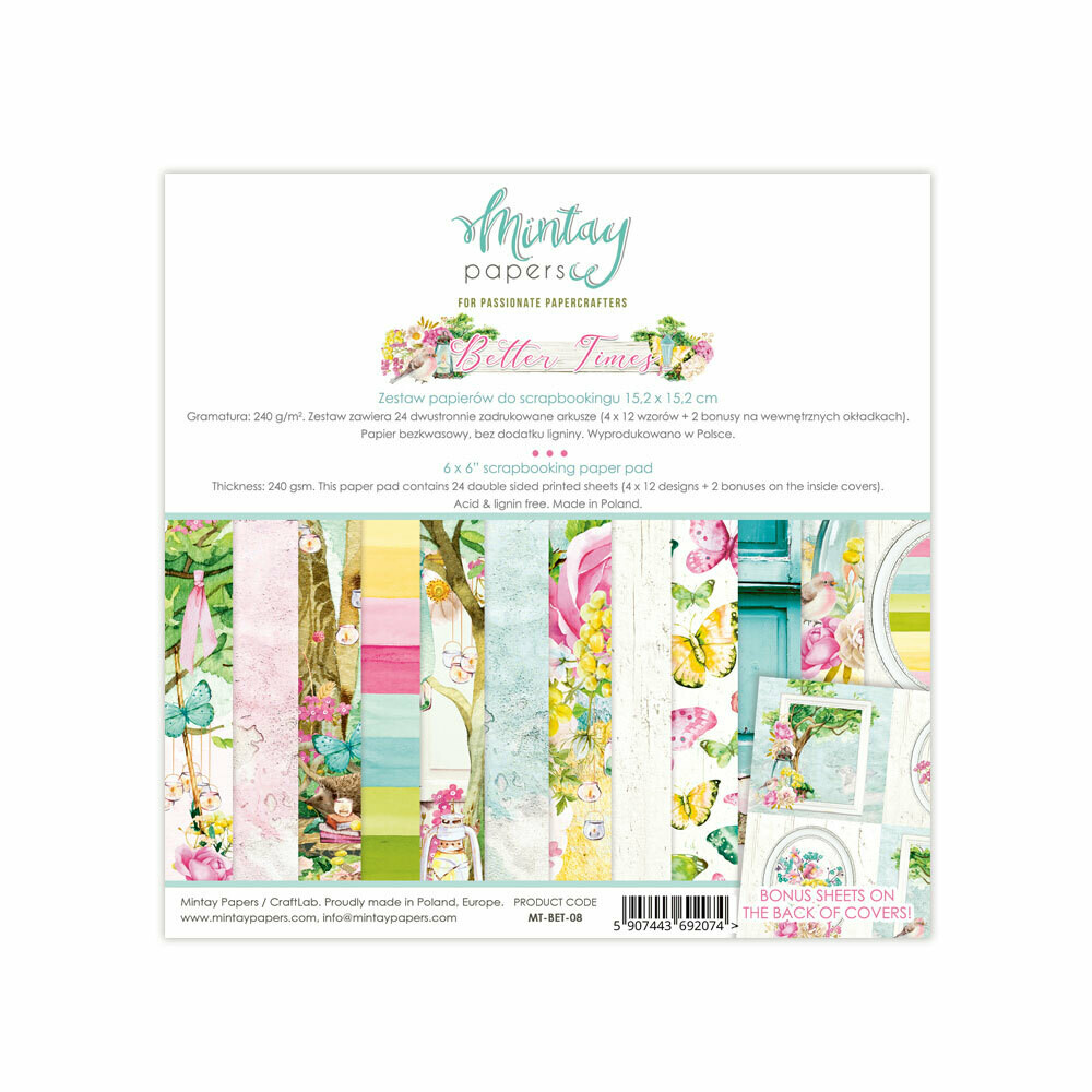 Better Times by Mintay Papers 6x6 paper pad shipping in June 2020