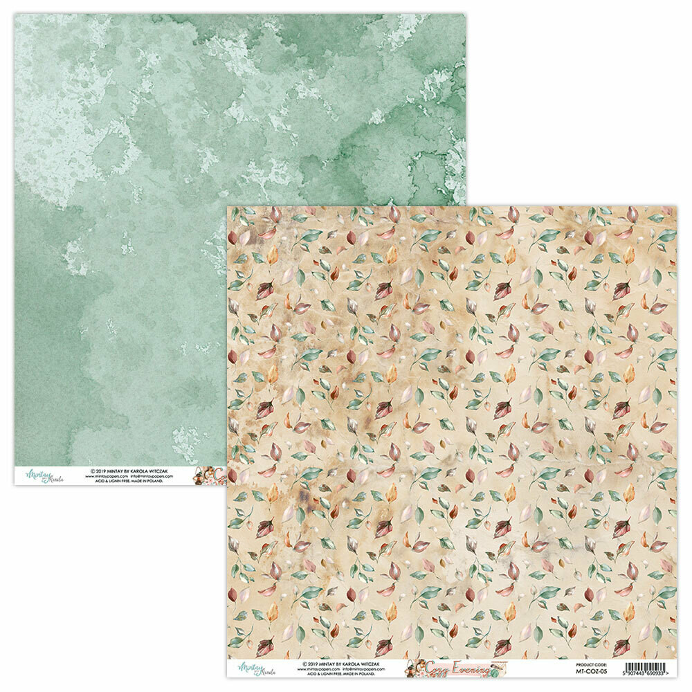 Mintay Papers COZY EVENING 12 x 12 sheet #5