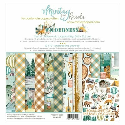Mintay Papers WILDERNESS 12 x 12 scrapbook paper set