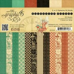"""Graphic 45 Double-Sided Paper Pad 6""""X6"""" 36/Pkg Patterns and Solids Enchanted Forest, 12 Designs/3 Each"""