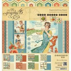 """Graphic 45 Double-Sided Paper Pad 8""""X8"""" 24/Pkg Home Sweet Home Collection, 2 Each Of 12 Designs"""