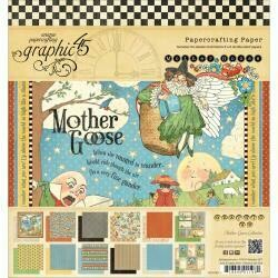 """Graphic 45 Double-Sided Paper Pad 8""""X8"""" 24/Pkg Mother Goose, 2 Each Of 12 Designs"""