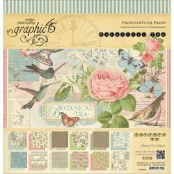 "Graphic 45 Paper Pad 12""X12"" 24/Pkg Botanical Tea"