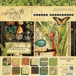Graphic 45 Nature Sketchbook original product bundle