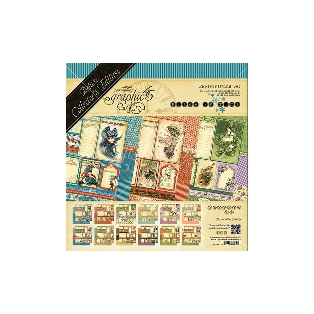 Graphic 45-Place In Time Deluxe Collector's Edition Pack