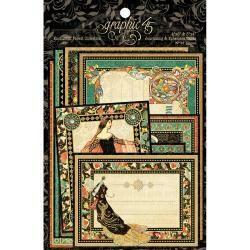 "Graphic 45 Enchanted Forest Ephemera Cards (16) 4""X6"" & (16) 3""X4"""