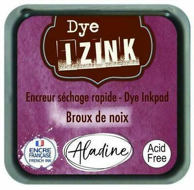 Aladine IZINK Dye Inkpad - Brou de Noix
