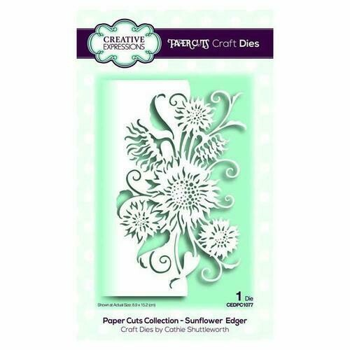Creative Expressions Paper Cuts Collection - Sunflower Edger