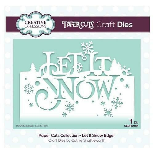 Creative Expressions Paper Cuts Collection - Let It Snow