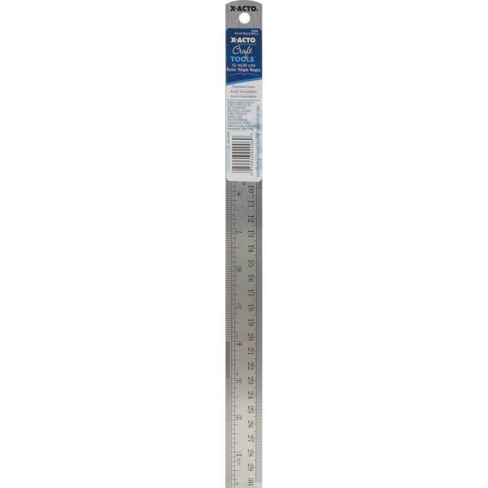 """X-ACTO® Designer Series Metal Ruler 12"""""""