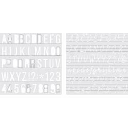 """We R Memory Keepers Foil Quill Freestyle Stencils 7""""X7"""" 2/Pk Alphabet"""