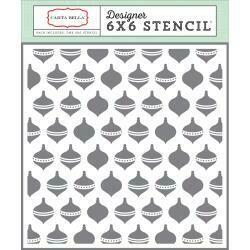 "Carta Bella Stencil 6""X6"" Ornaments"