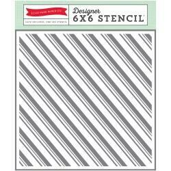 "Echo Park Stencil 6""X6"" Candy Cane Stripe"