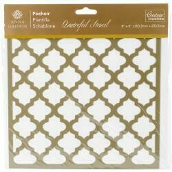 "Couture Creations Arabesque Stencil 8""X8"" Quatrefoil"