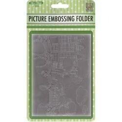 "Nellie's Choice Picture Embossing Folder 4""X6"" Canals"