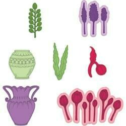 "Heartfelt Creations Cut & Emboss Dies Tulip Vase & Fillers 1"" To 3.75"""
