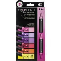 Spectrum Noir Triblend Markers 6/Pkg Floral Blends