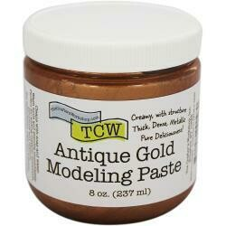 Crafter's Workshop Modeling Paste 8oz Antique Gold