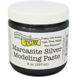 Crafter's Workshop Modeling Paste 8oz Marcasite Silver