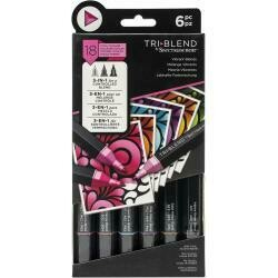 Spectrum Noir Triblend Markers 6/Pkg Vibrant Blends