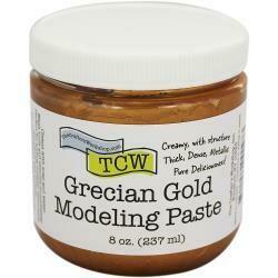 Crafter's Workshop Modeling Paste 8oz Grecian Gold