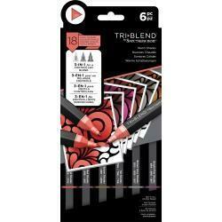 Spectrum Noir Triblend Markers 6/Pkg Warm Shades