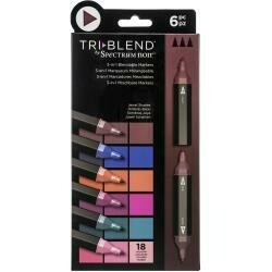 Spectrum Noir Triblend Markers 6/Pkg Jewel Shades