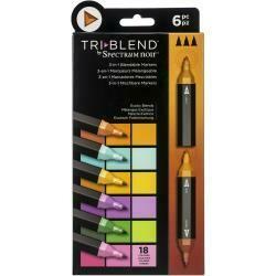 Spectrum Noir Triblend Markers 6/Pkg Exotic Blends