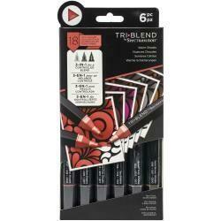 Spectrum Noir Triblend Markers 6/Pkg Muted Blends