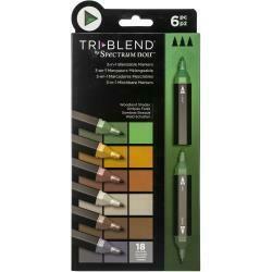 Spectrum Noir Triblend Markers 6/Pkg Woodland Shades