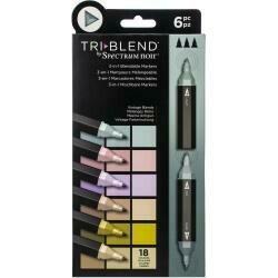 Spectrum Noir Triblend Markers 6/Pkg Vintage Blends