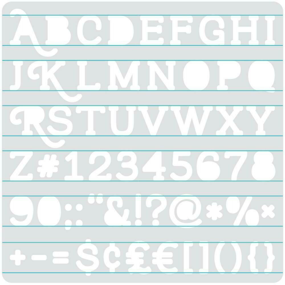 """Heatwave Stencil 7""""X7"""" Serif"""