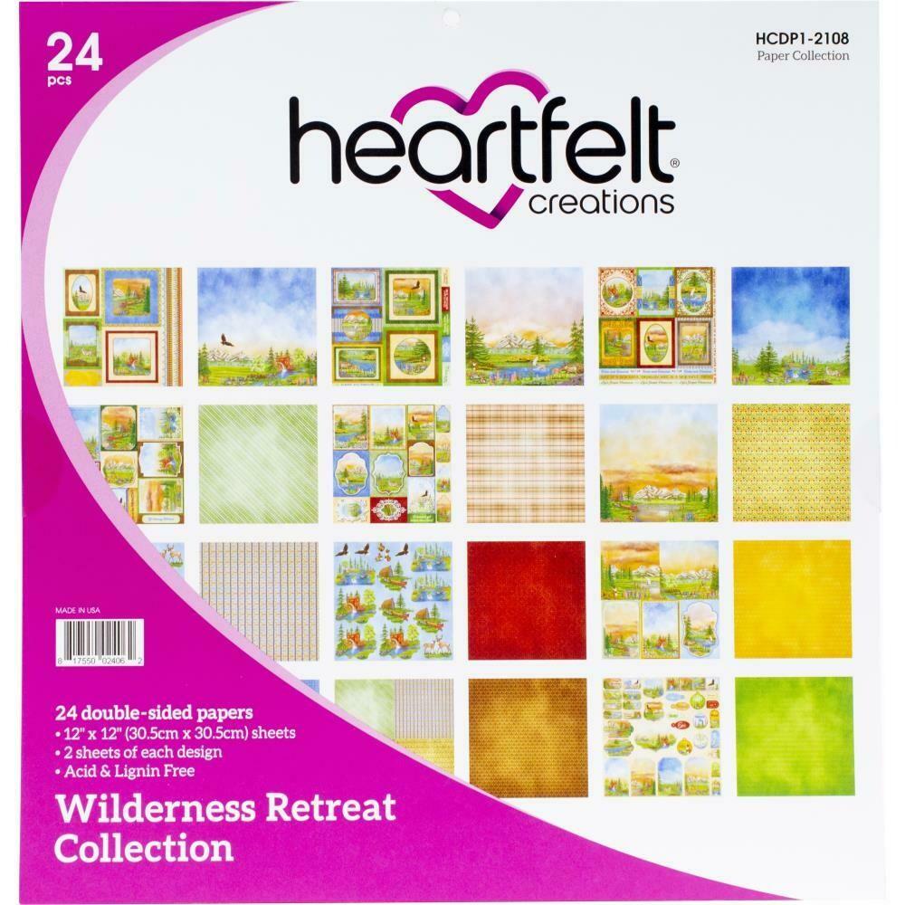 "Heartfelt Creations Double-Sided Paper Pad 12""X12"" 24/Pkg Wilderness Retreat"