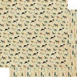 """Authentique Purebred Double-Sided Cardstock 12""""X12"""" #5 Dogs & Cats"""
